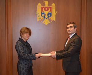 L'Ambasciatrice d'Italia in Moldova S.E. Valeria Biagiotti ha presentato oggi al Vice Ministro degli Esteri Lilian Darii copia delle lettere credenziali.