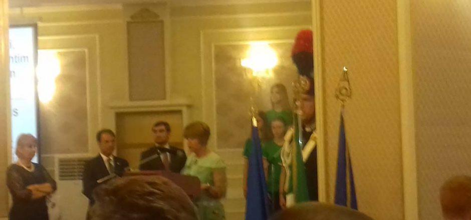 Un momento del cerimoniale per la Festa della Repubblica Italiana a Chisinau il 2 giugno 2017