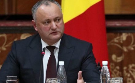 Dodon in conferenza stampa