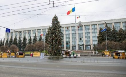 Albero di Natale a Chisinau