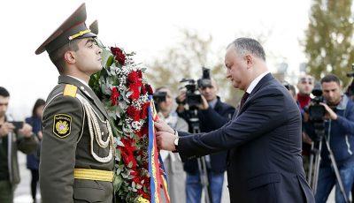 Igor Dodon in Armenia