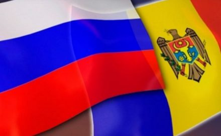 Bandiera russa e moldava