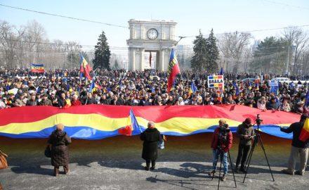 In Piazza per l'Unione tra Romania e Moldova