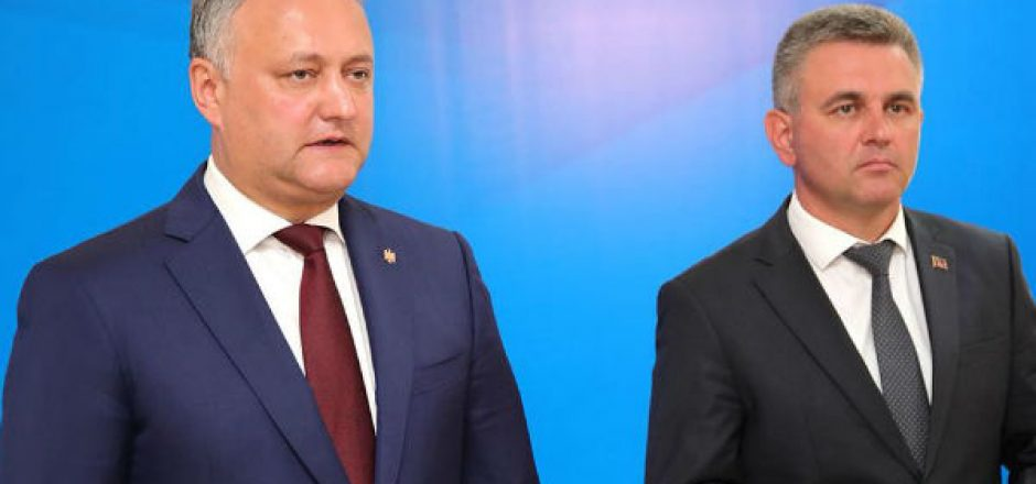 Igor Dodon con Vadim Krasnoselski