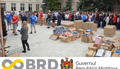 """Asociația """"Moldova-AID"""" a adus ajutoare umanitare din Marea Britanie pentru copiii din Moldova"""