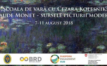 """Şcoala de vară cu pictoriţa Cezara Kolesnik: """"Claude Monet - sursele picturii moderne"""""""