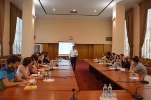 """Participanții Școlii Internaționale de Vară ,,Chișinău – Odessa 2018"""", în vizită de informare la BRD"""