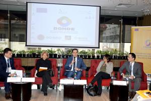 Capacitățile antreprenoriale ale diasporei din Republica Moldova, discutate la conferința finală a proiectului D.O.M.D.E.