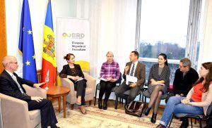 Noul șef al OIM, Moldova, în vizită de curtoazie la BRD
