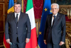 Il Presidente Mattarella riceve il nuovo ambasciatore della Moldova in Italia