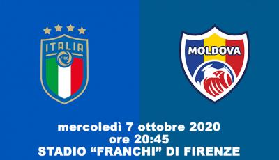 Calcio, Italia - Moldova si gioca il 7 ottobre a Firenze