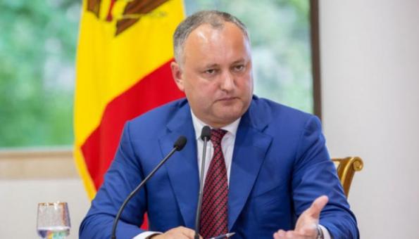 Igor Dodon si dimette